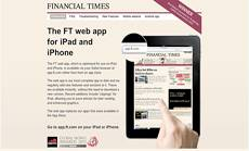 Financial Times mobile web app