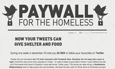 Paywall for the homeless